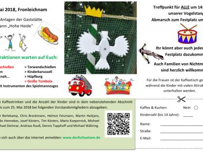 Einladung zum Sommerfest / Kinderschützenfest 2018