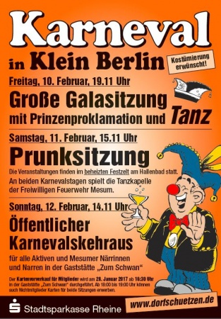 Klein Berlin ruft den Karneval aus...