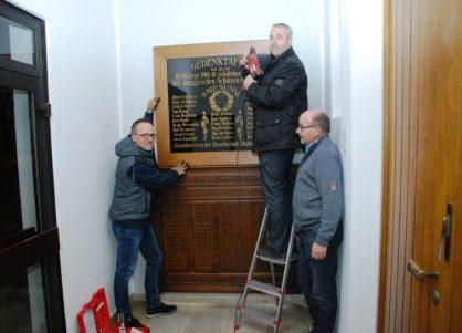 Neuer Platz für Gedenktafeln der Schützenvereine